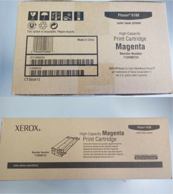 OFFERTA TONER CARTRIDGE MAGENTA XEROX 103R00724 PHASER 6180 ORIGINALE GENUINE