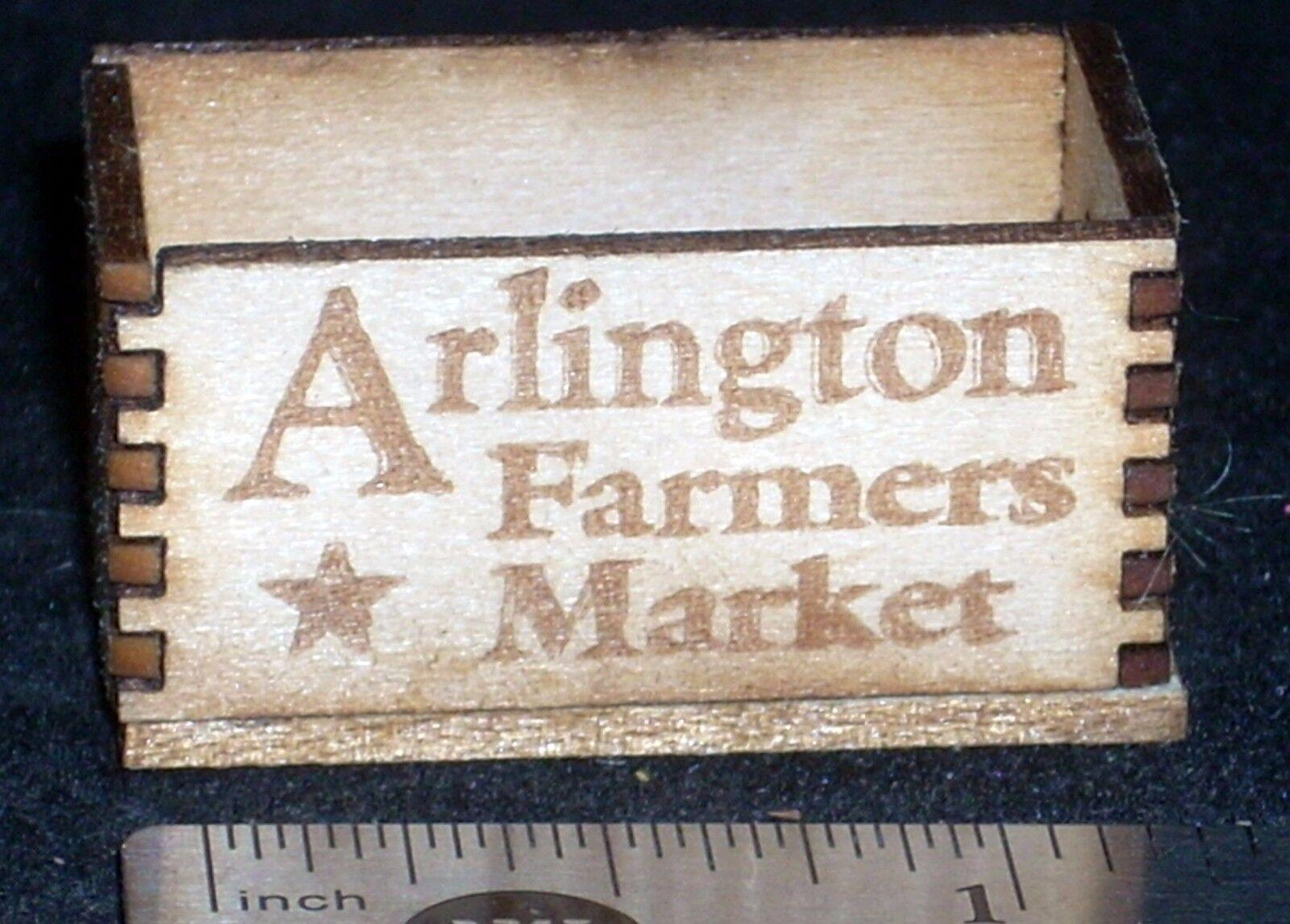 Texas Dollhouse Miniature Waxahachie Farmers Market Produce Crate 1:12