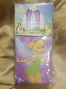Window Dressing With Tinkerbell Fairy Daughter Tie Backs Pink Pair Of Peter Pan Girl Bedroom Disney Vintage Home Curtains