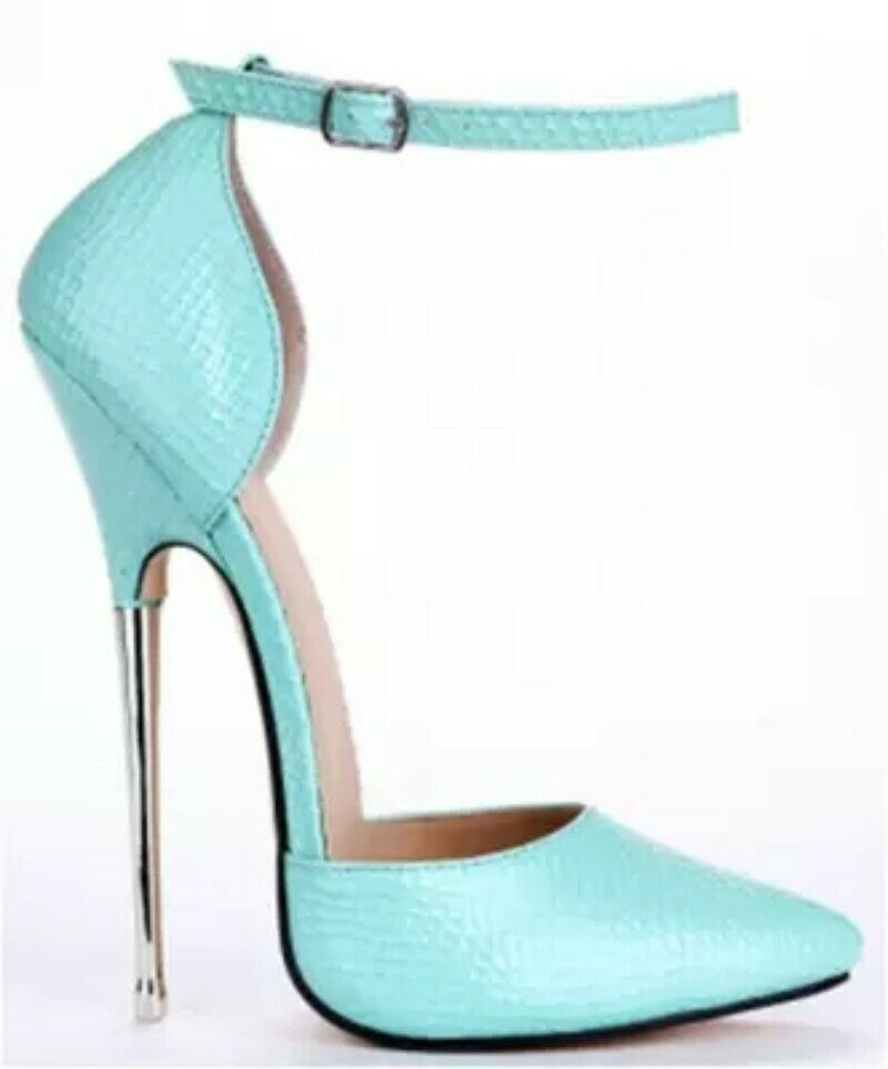 Womens Very High Heel Platform Buckle Pointed Toe Spring Sandals shoes Fashion