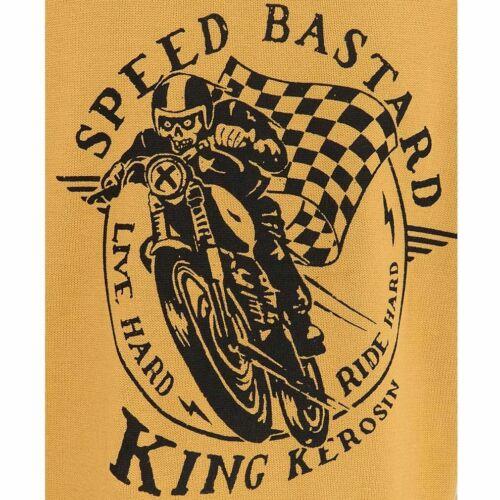 King Kerosin 50er Coffee Racer Rockabilly Biker Strickpullover Speed Bastard