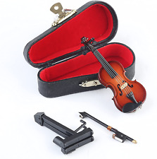 Barbie Wood Violin with Velvet Lined Case and Bow