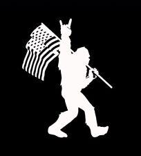 7 Bigfoot Sasquatch American Flag Yeti Sticker Decal Conspiracy Car Truck Usa