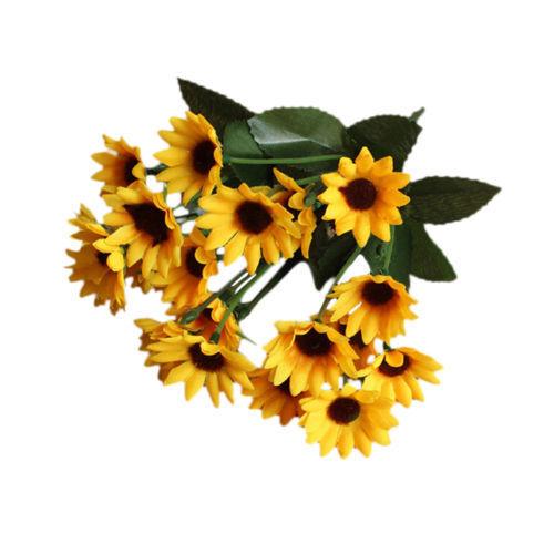 14 Head Fake Sunflowers Artificial Silk Flowers Bouquet Home Wedding Table DRGU