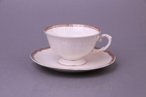 Kaffeetasse mit Untere Krautheim Astrid Dekor 9256 mit Goldrand