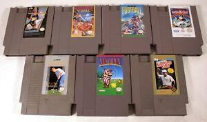 Lot-7-Vintage-1985-NINTENDO-NES-Game-Cartridges-Monopoly-Golf-V-039-Ball-Pictionary