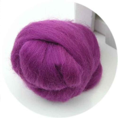 50g Wool Offcuts Mixed Wool Top Spinning Wet Needle Felting Fiber Roving Dyed