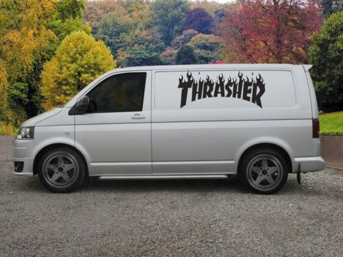 Huge Thrasher Van Vinyl Sticker Decal x 2