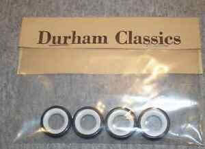 4 HIGH QUALITY WHITEWALL TIRES DURHAM CLASSICS fits Brooklin & other 1/43 scale