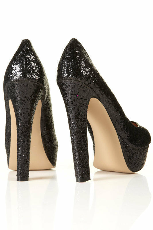 nouvelle plate - forme du shopping swagger glitter chaussures cour chaussures glitter en noir aedc2a