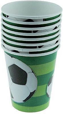 3D Soccer Ball Theme Paper Party Cups 8pk, 9oz/270ml-Ideal for World Cup Parties