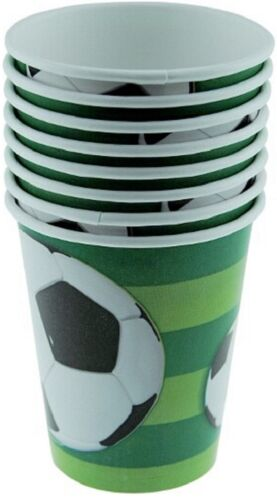 3D Soccer Ball Theme Paper Party Cups 8pk 9oz//270ml-Ideal for World Cup Parties
