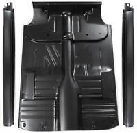 55 Chevy 2dr Post Sedan Full Floor Pan Complete W/braces + Inner & Outer Rockers
