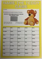 Item 2 Name The Teddy Scratch Card A4 Bear Fundraising School Fete Brownies