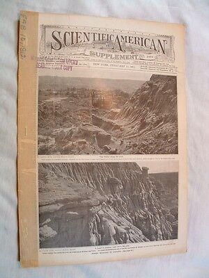 Scientific American S-2/10 1912- Canada Fossil Hunting-Tea- Somatology-Cast Iron