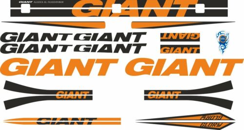 GIANT GLORY Frame Stickers Factory Decal Adhesive Graphic Vinyl Set Orange