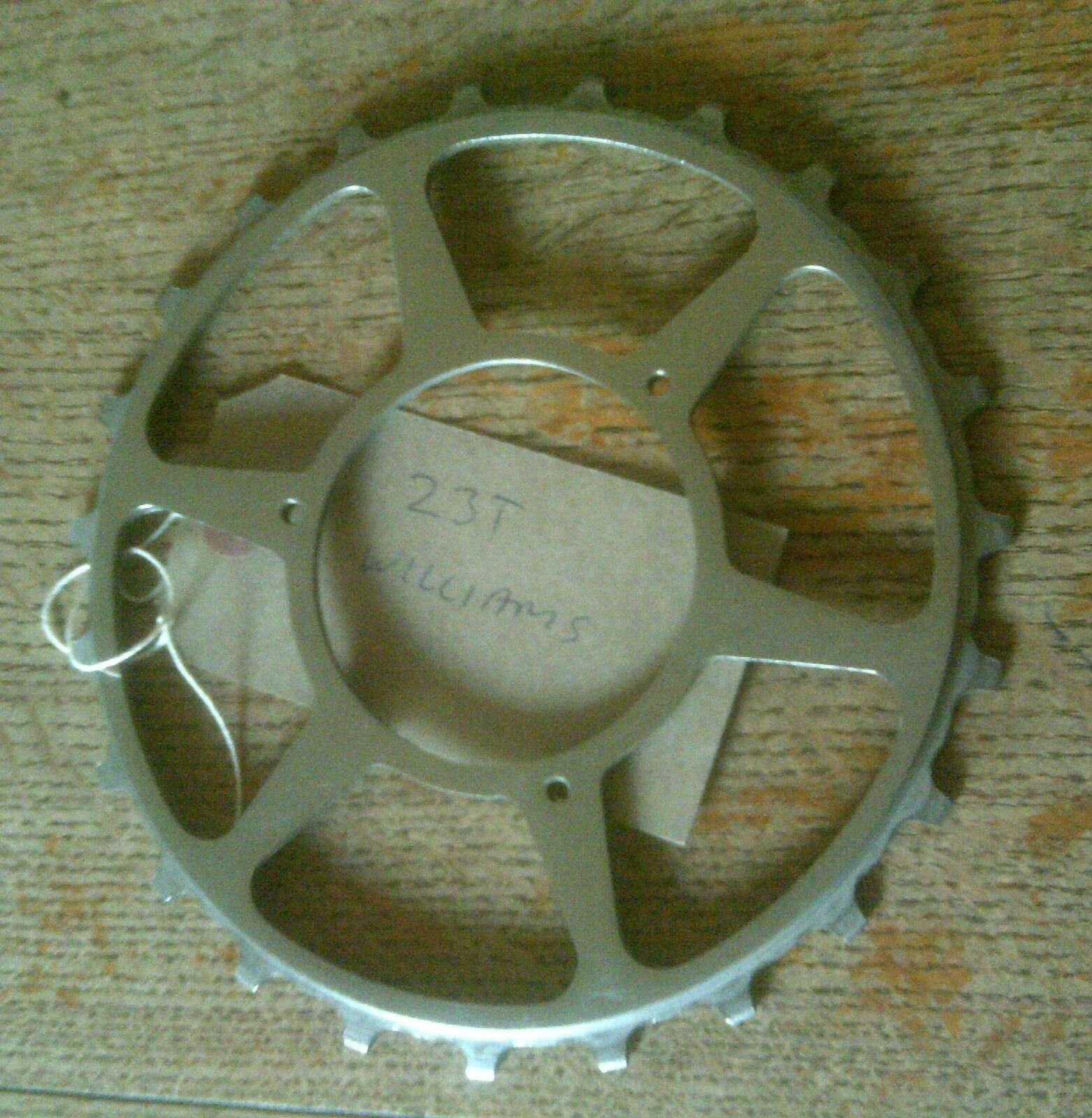 23 TOOTH WILLIAMS C34 CHROMED INCH PITCH CHAINRING, SKIP TOOTH
