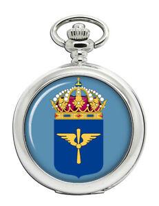 Flygvapnet-Schwedische-Air-Force-Taschenuhr