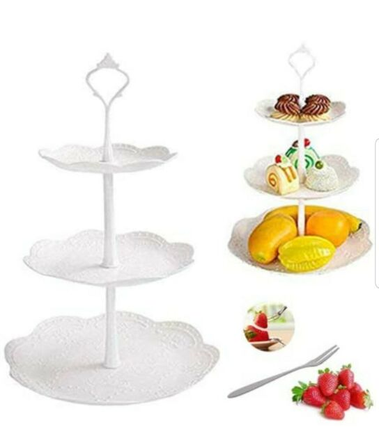 Fruit Dessert Plate Tray Cake Stand Rack Holder Tower Cupcake Wedding Display