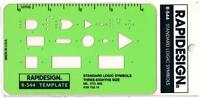 Berol Rapidesign Template - Standard Logic Symbols - 3/8 Size - R-544