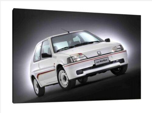 Peugeot 106 Rallye Framed Picture Print 30x20 Inch Canvas