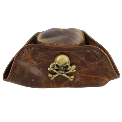 Handmade Medieval Leather Pirate Snuff Tricorn Costume Re-enactment  Hat