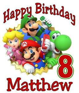 MARIO Amp FRIENDS BIRTHDAY T SHIRT Personalized Any