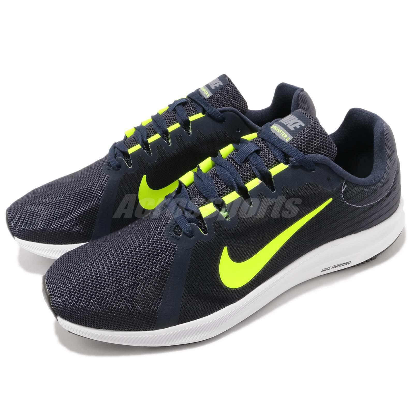 Nike Downshifter 8 Navy Obsidian Volt Mens Running Shoes Trainers 908984-007