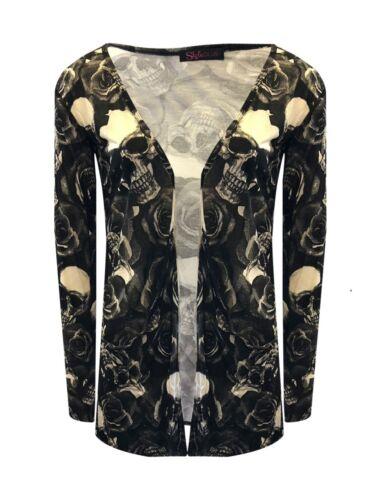 Women/'s Ladies /& Girls Long Sleeve Boyfriend Cardigan With Pockets UK Size 8-26