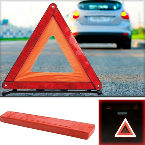 Triangolo custodia.Emergenza stradale sicurezza incidente catarifrangente auto
