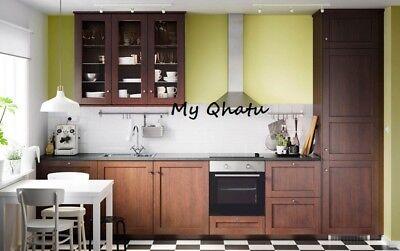 Ikea EDSERUM Kitchen Cabinet Door, Cover panel, wood effect brown   eBay