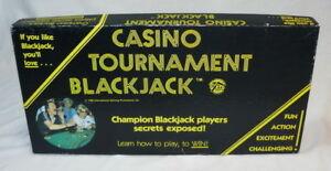 1980 CASINO TOURNAMENT BLACKJACK GAME W/ LAYOUT VINTAGE