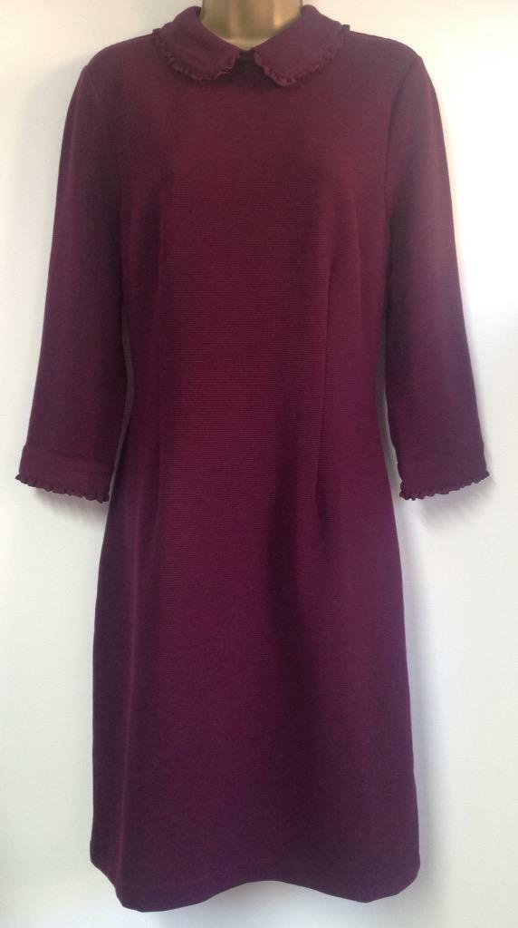 MONSOON - CLAUDET RIB DRESS - (BERRY) - Size 16 (Brand New with Tags)