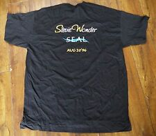 Vintage STEVIE WONDER & SEAL Jerudong Park Garden 1996 Concert T-shirt XL