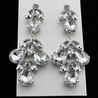 Hot Come Fashion Rhinestone Crystal Dangle Drop Chandelier Prom Pageant Earrings