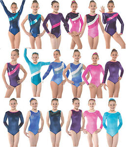 Gymnastics Leotards Gym Leotard Velvet Lycra Metallic