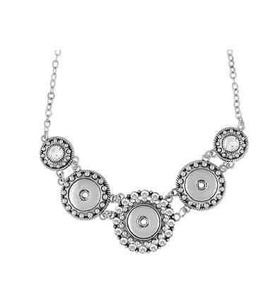 GINGER SNAPS™ Three Snap Statement Necklace for Interchangeable Snaps