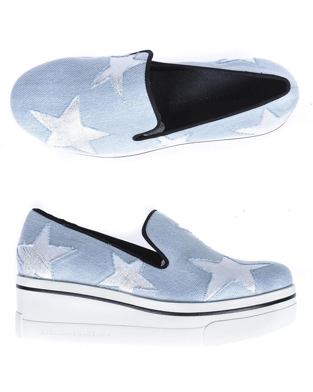 Stella Mcbiltney skor Sneeaker kvinna ljus ljus ljus blå 47901W1A49493 493 NWT  Alla produkter får upp till 34% rabatt