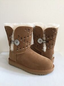 31d90988a67 Details about UGG BAILEY BUTTON TEHUANO CHESTNUT WOMEN BOOT USA 11 / EU 42  / UK 9.5 - NIB