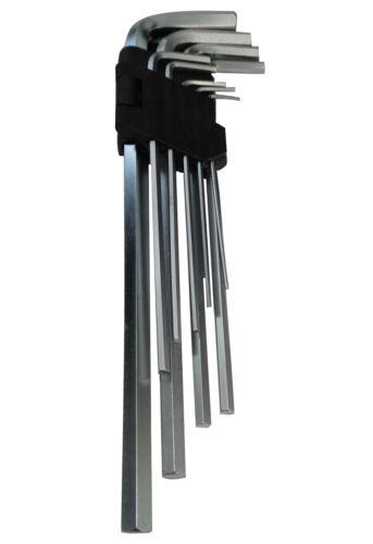 Jeu ensemble de clés mâles longues allen 1.5//2//2.5//3//4//5//6//8//10mm 9-23cm