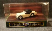corgi classic models pale blue triumph TR3A open top car 1.43 scale diecast model
