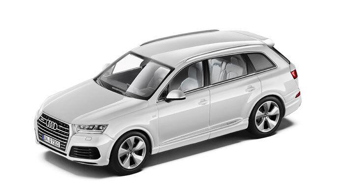 Original Audi q7, gletscherweiss, 1 43