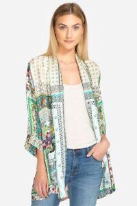New Samira Frame Chic C43818 Johnny Silke Kvinders Blomster Sz var Plus Kimono Boho qUwSw0