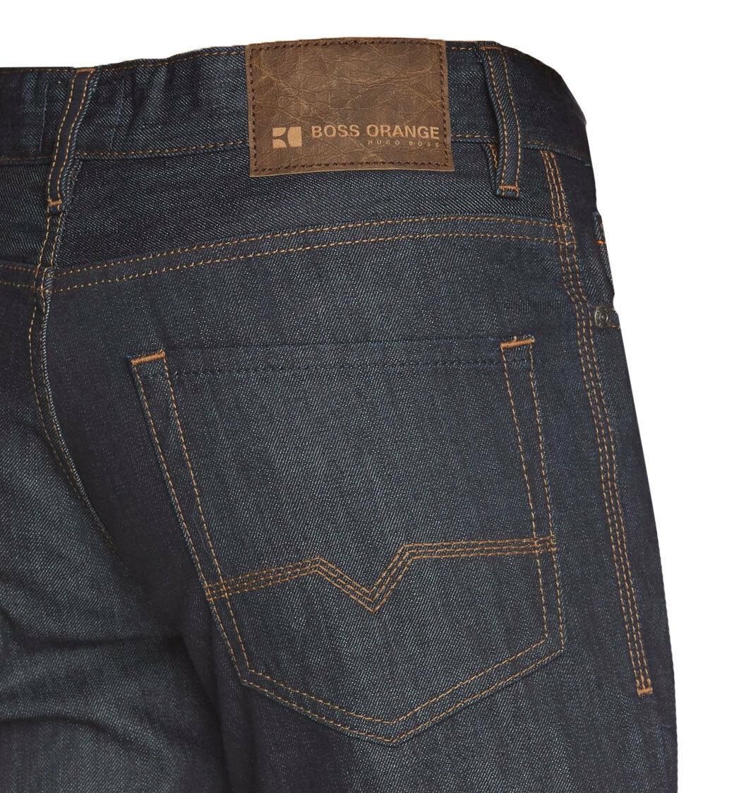 BOSS orange 31 Jeans   Pure ( Regular Fit ) dark bluee rinsed 100% Baumwolle