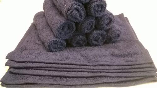 Lot de 12 420 gsm coton riche visage chiffons serviettes flannels laver chiffon-bleu marine