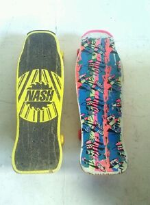 Image Is Loading Vintage 80s Skateboard Nash Bizarrre Yellow Pink