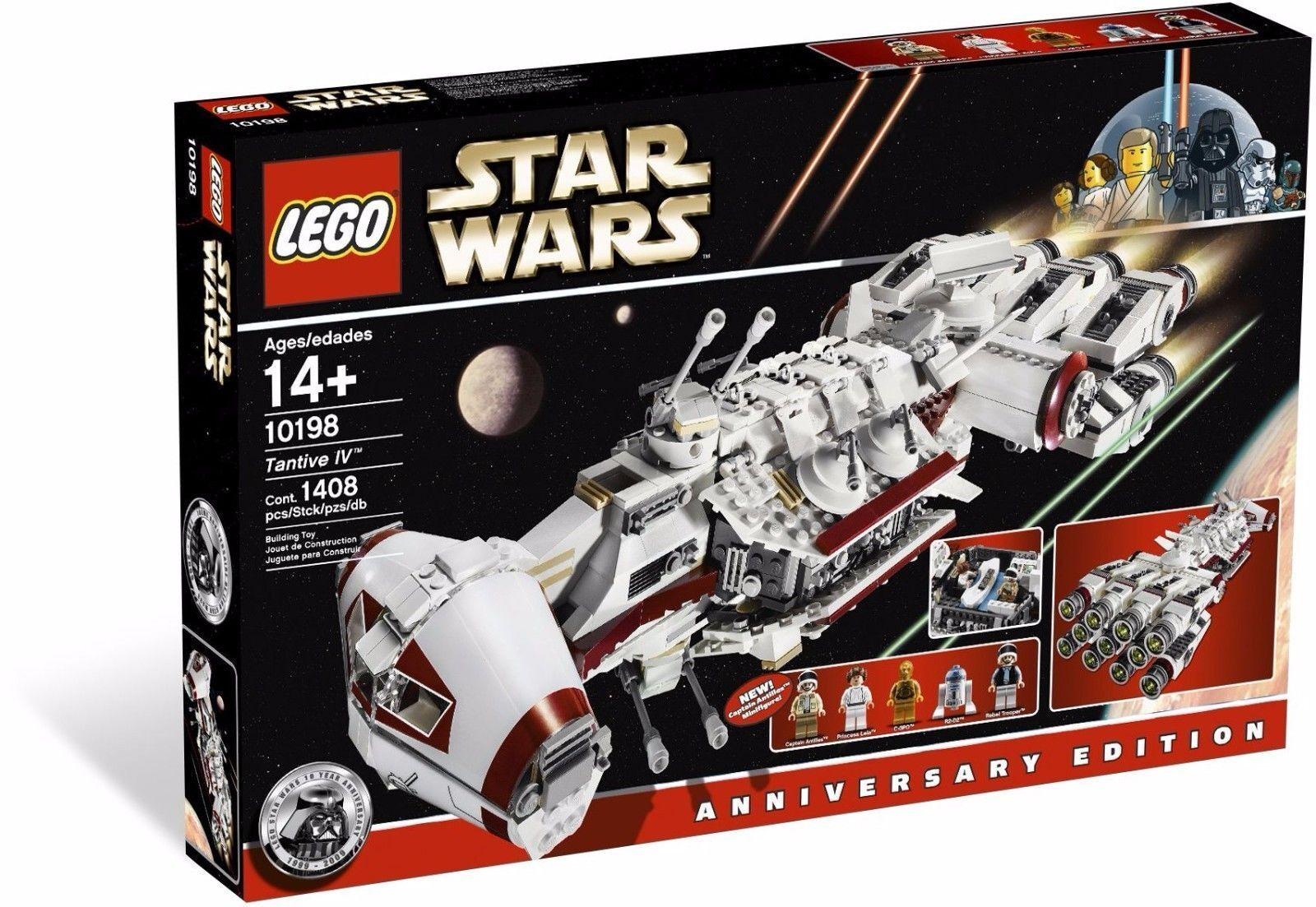 Lego 10198 Estrella Wars Tantive IV Edición de aniversario 4 Raro en Caja Sellada