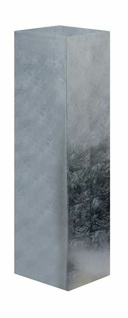 79446 pilar Solid de poly fibra de vidrio  plata altura  100cm ancho  27cm x 27cm