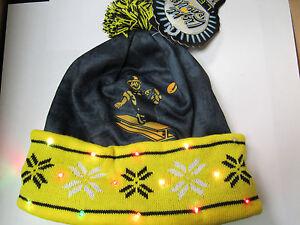 8866de6496e Pittsburgh Steelers Retro TEAM LOGO Light up Hat Winter Forever ...