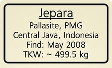 Meteorite label Jepara